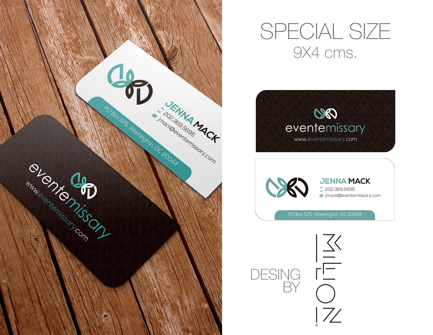 Professional upmarket event planning business card design for a business card design by million mexico for this project design 15571834 reheart Gallery