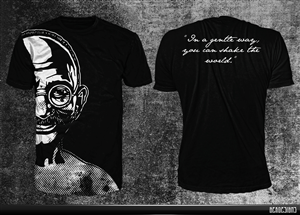 T-shirt Design by GekDesigns - Ghandi tee