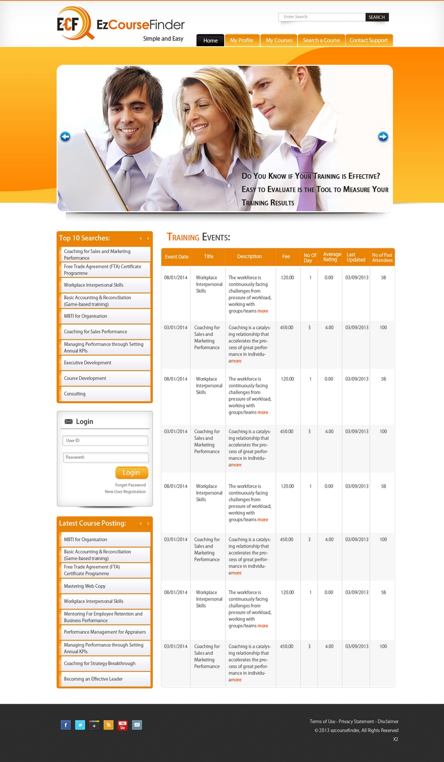 Moderne professionnelle training web design for fp for Design consultancy internship