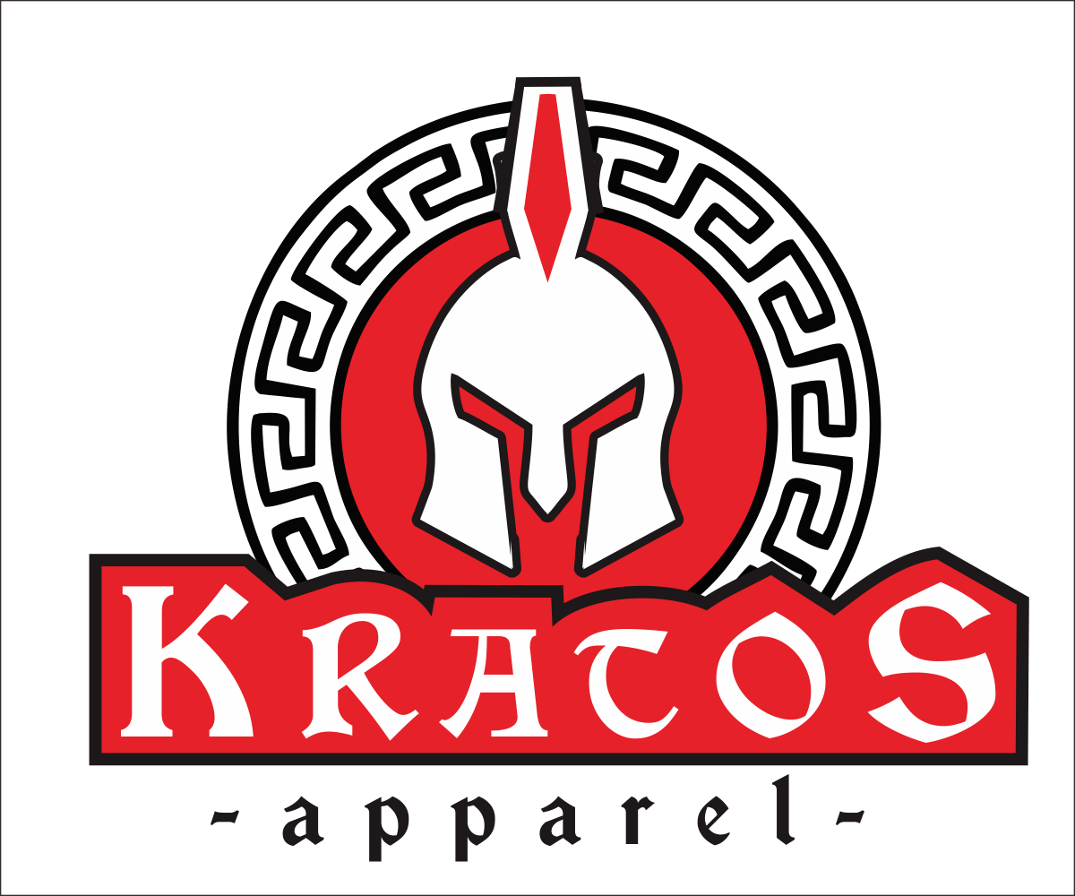 Serious Masculine Clothing Logo Design For Kratos By