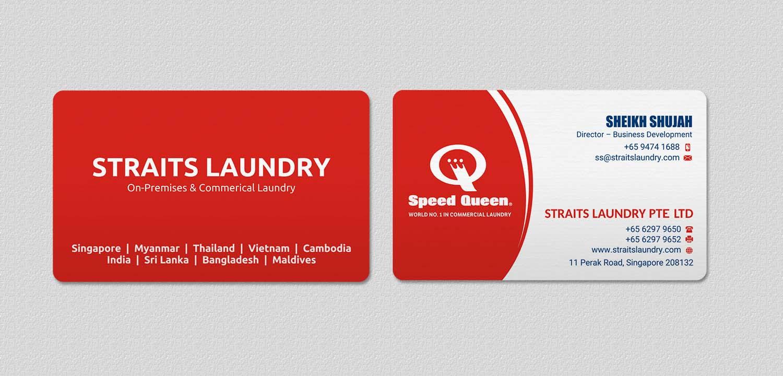 Upmarket, Modern, Business Business Card Design for Straits Laundry