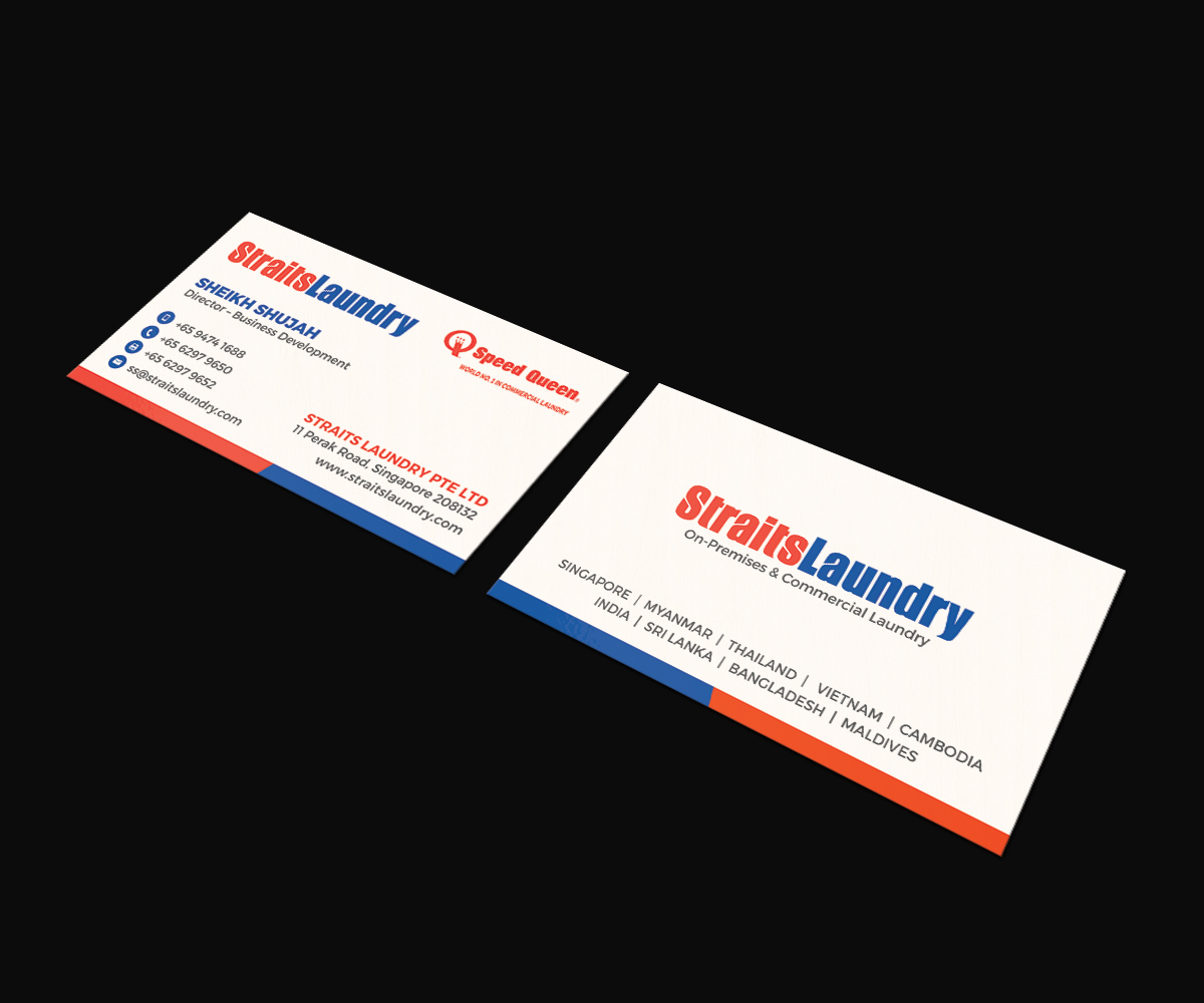 Upmarket, Modern, Business Business Card Design for Straits Laundry