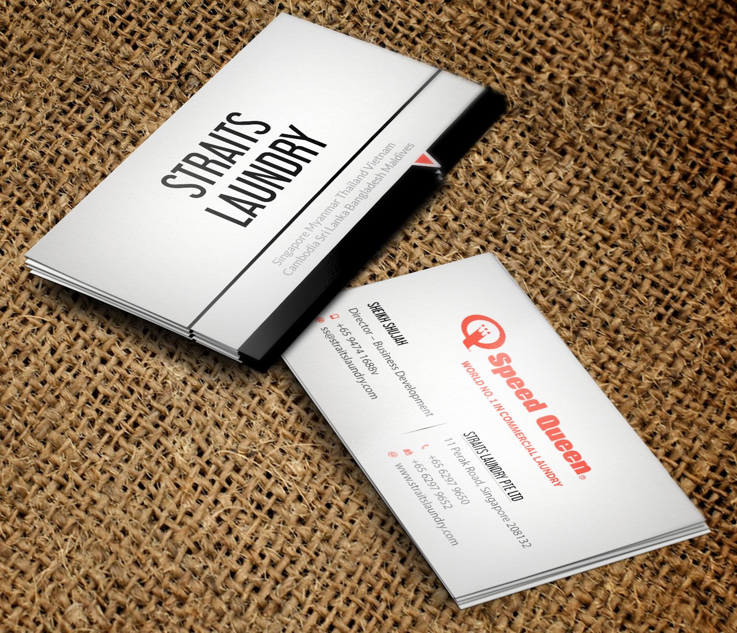 Upmarket, Modern, Business Business Card Design for Straits Laundry ...