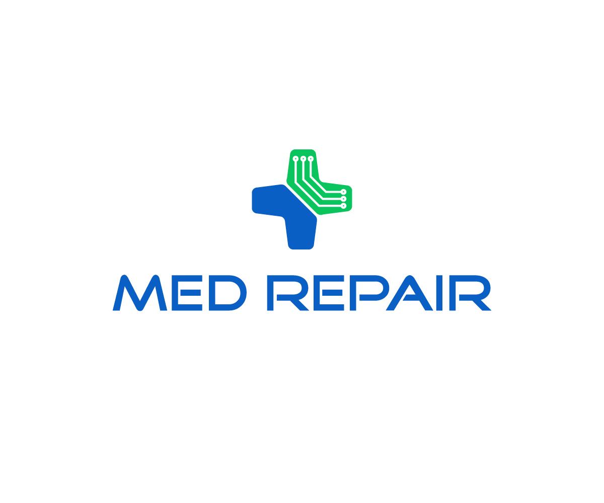 Modern Professionell Medical Equipment Logo Design Fr Med Repair
