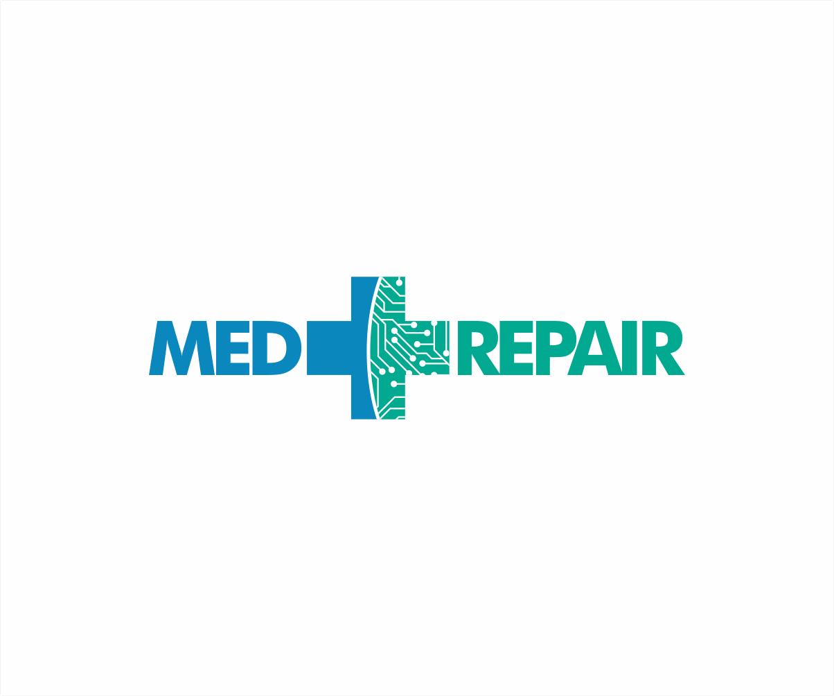 Modern Professional Medical Equipment Logo Design For Med Repair