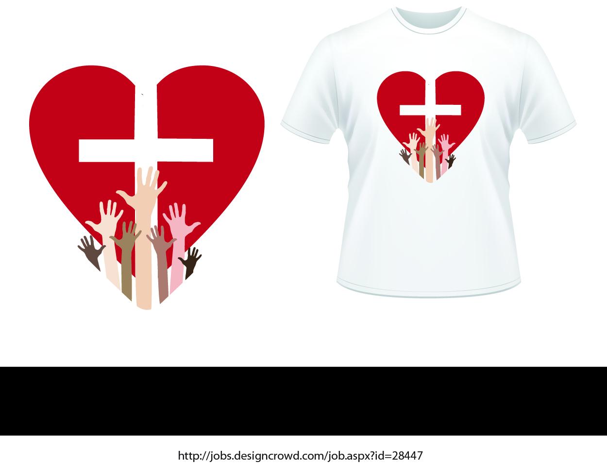 T shirt design job - T Shirt Design By Daniel Lopez Denham For Christian Missions T Shirt Design Project