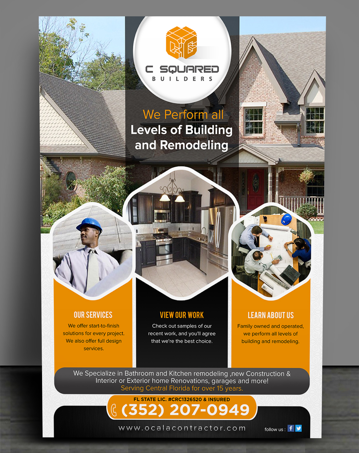 Bold Serious Residential Construction Flyer Design For Usa Home Inspections By Sd Webcreation Design 15704400