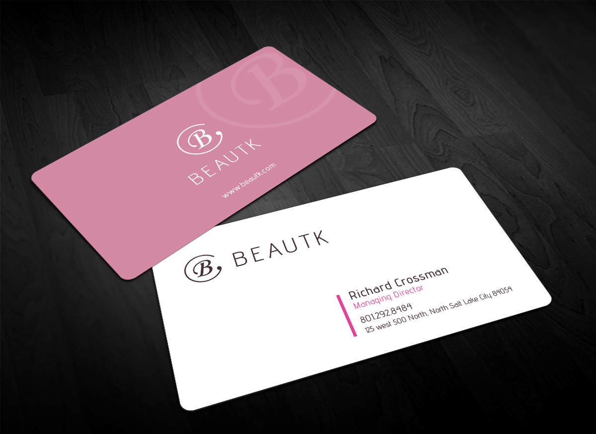 Elegant modern cosmetics business card design for a company by business card design by sandaruwan for this project design 15683046 colourmoves