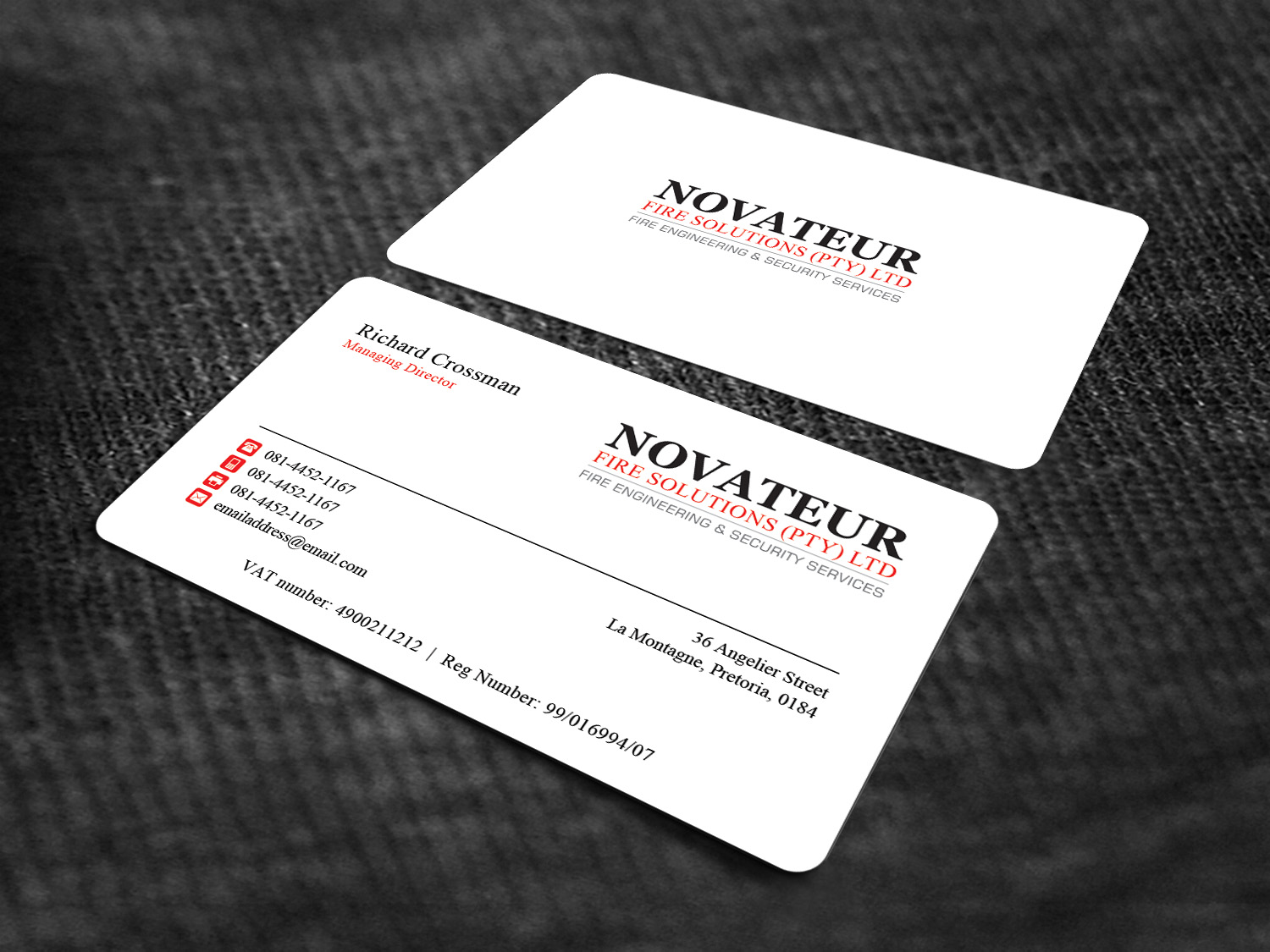 Professional, Serious, Fire Safety Business Card Design for ...
