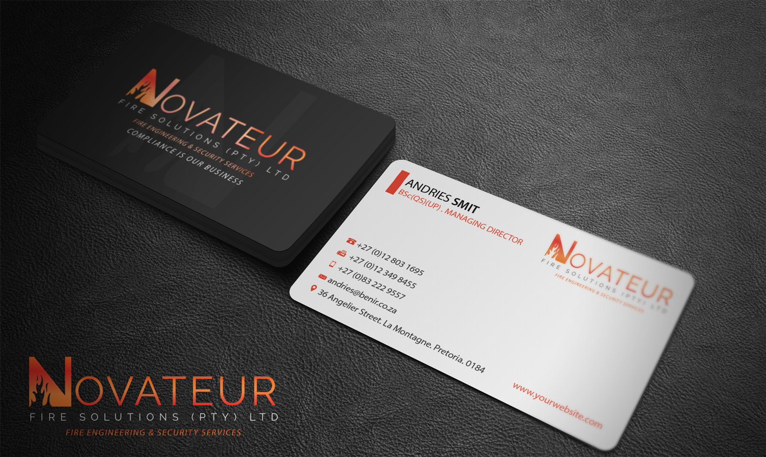 70 Professional Business Card Designs   Fire Safety Business Card ...