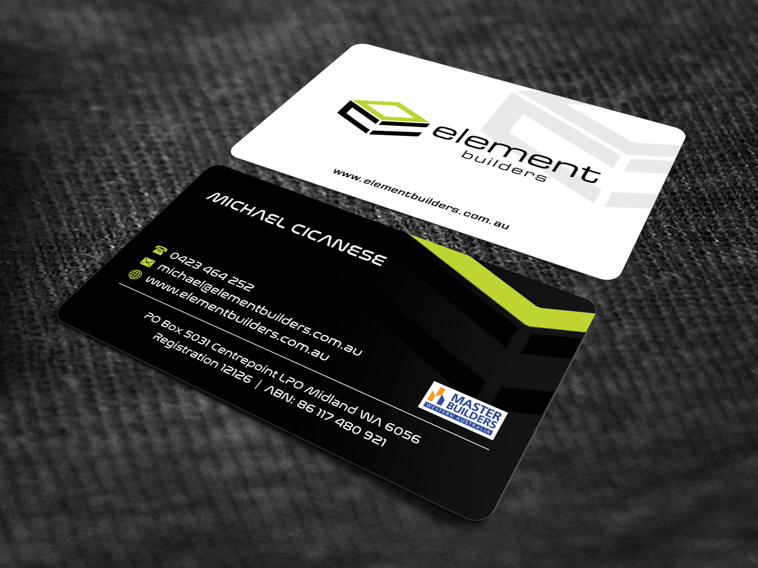 Modern professional construction business card design for element business card design by sandaruwan for element builders design 15730549 colourmoves
