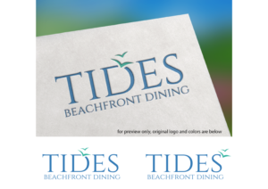 Logo Design 15708540 Submitted To TIDES Beachfront Dining For Elegant Beachside