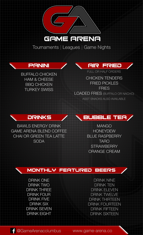 Modern Bold Games Menu Design For GameArena By SimplisticDesigns - Game menu design