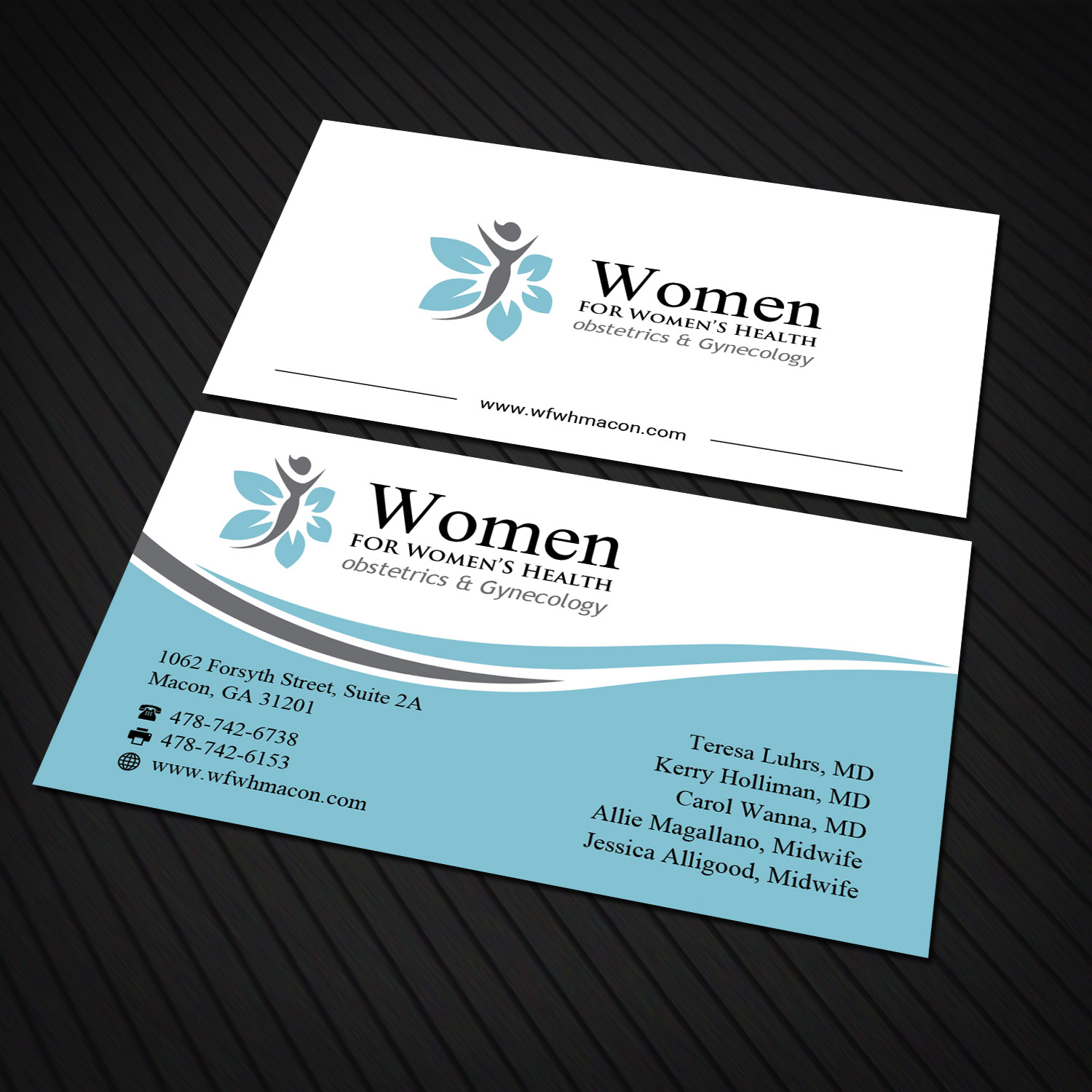 Personable elegant business business card design for women for business card design by sandaruwan for women for womens health design 15724387 colourmoves Gallery