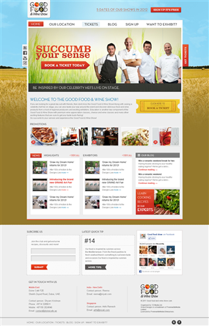 Web Design by iPlayers - Major Australian Food and Wine Event Web Design...