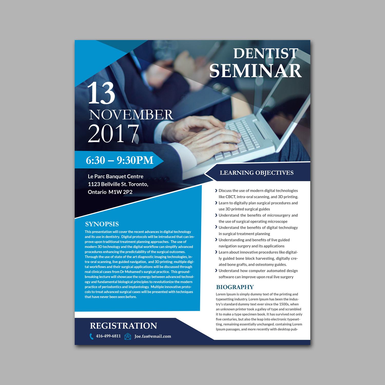 Seminar Flyer | Professional Modern Dental Flyer Design For Joeyjojo2742 By