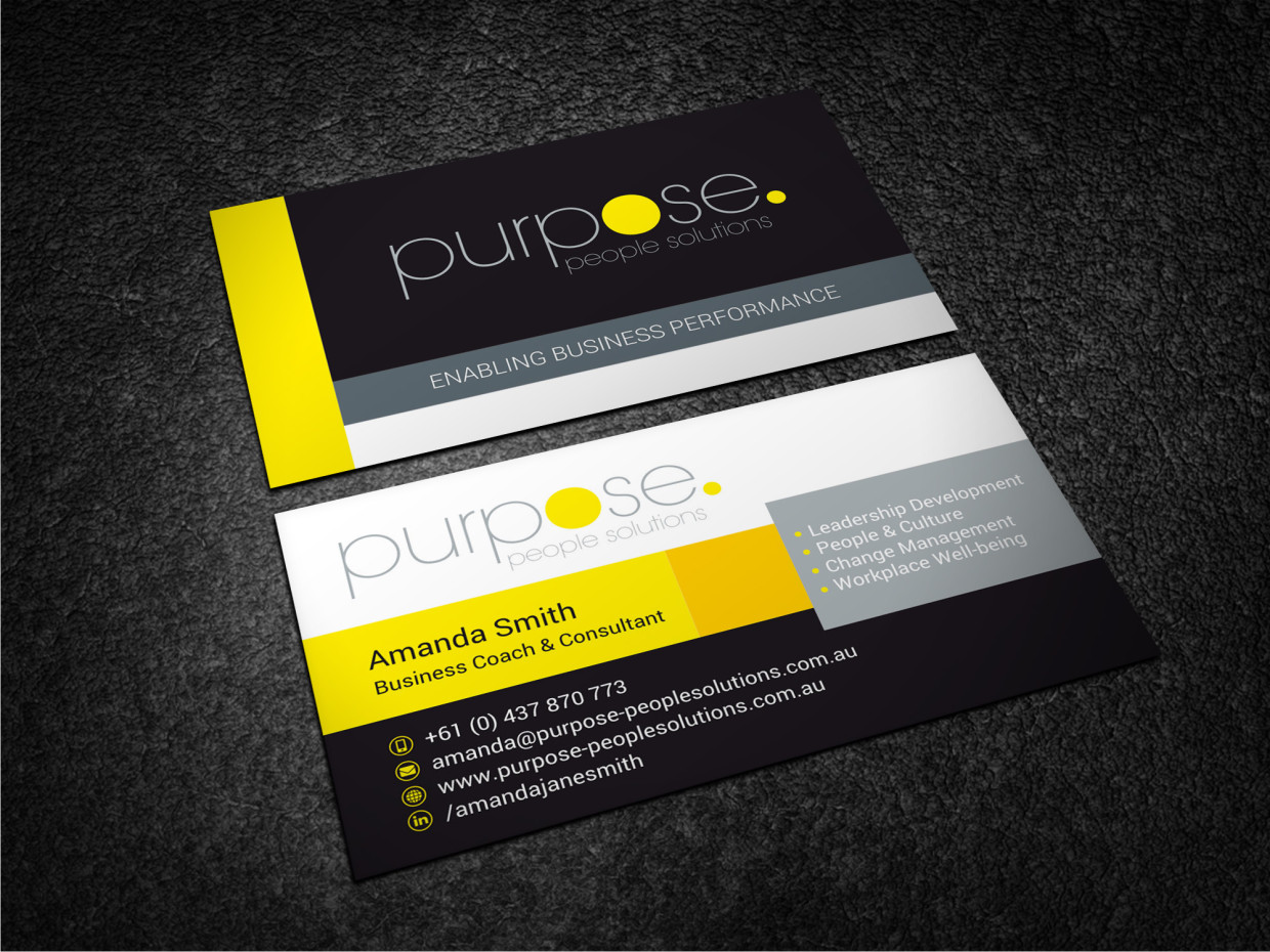 Bold modern business card design for purpose people solutions by business card design by atvento graphics for purpose people solutions design 15714784 colourmoves