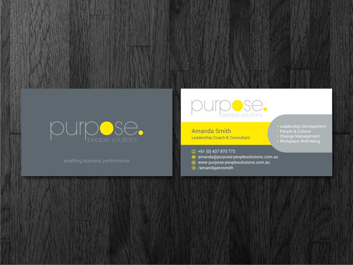 9 bold business card designs professional service business card business card design by atvento graphics for purpose people solutions design 15725648 colourmoves