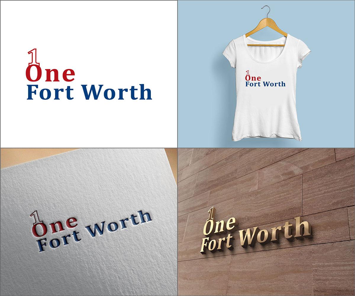 Elegant Playful Logo Design For One Fort Worth By Ldyb Design