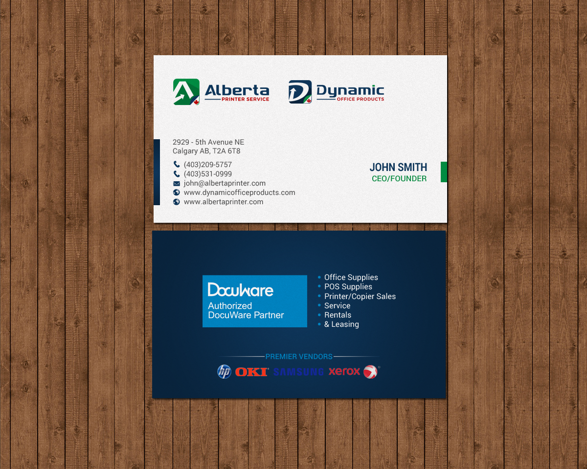 Elegant serious office supply business card design for dynamic business card design by chandrayaaneative for dynamic office products design 15818857 reheart Gallery