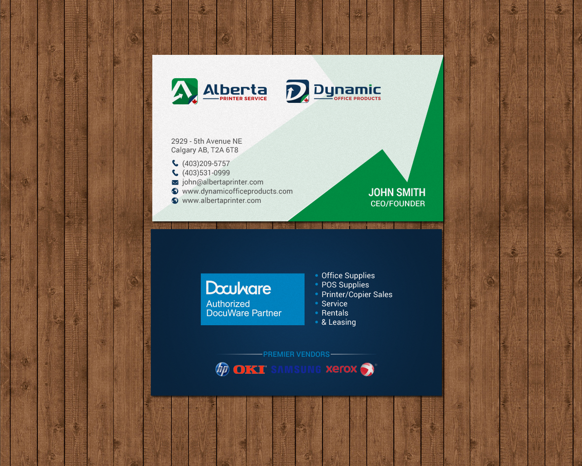 Elegant serious office supply business card design for dynamic business card design by chandrayaaneative for dynamic office products design 15821894 reheart Choice Image