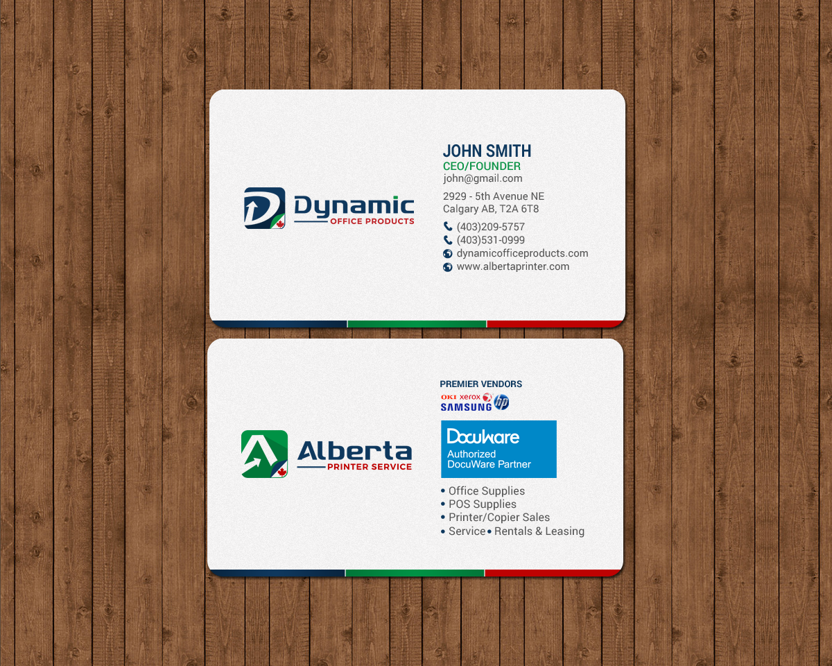 Elegant serious office supply business card design for dynamic business card design by chandrayaaneative for dynamic office products design 15821949 reheart Gallery