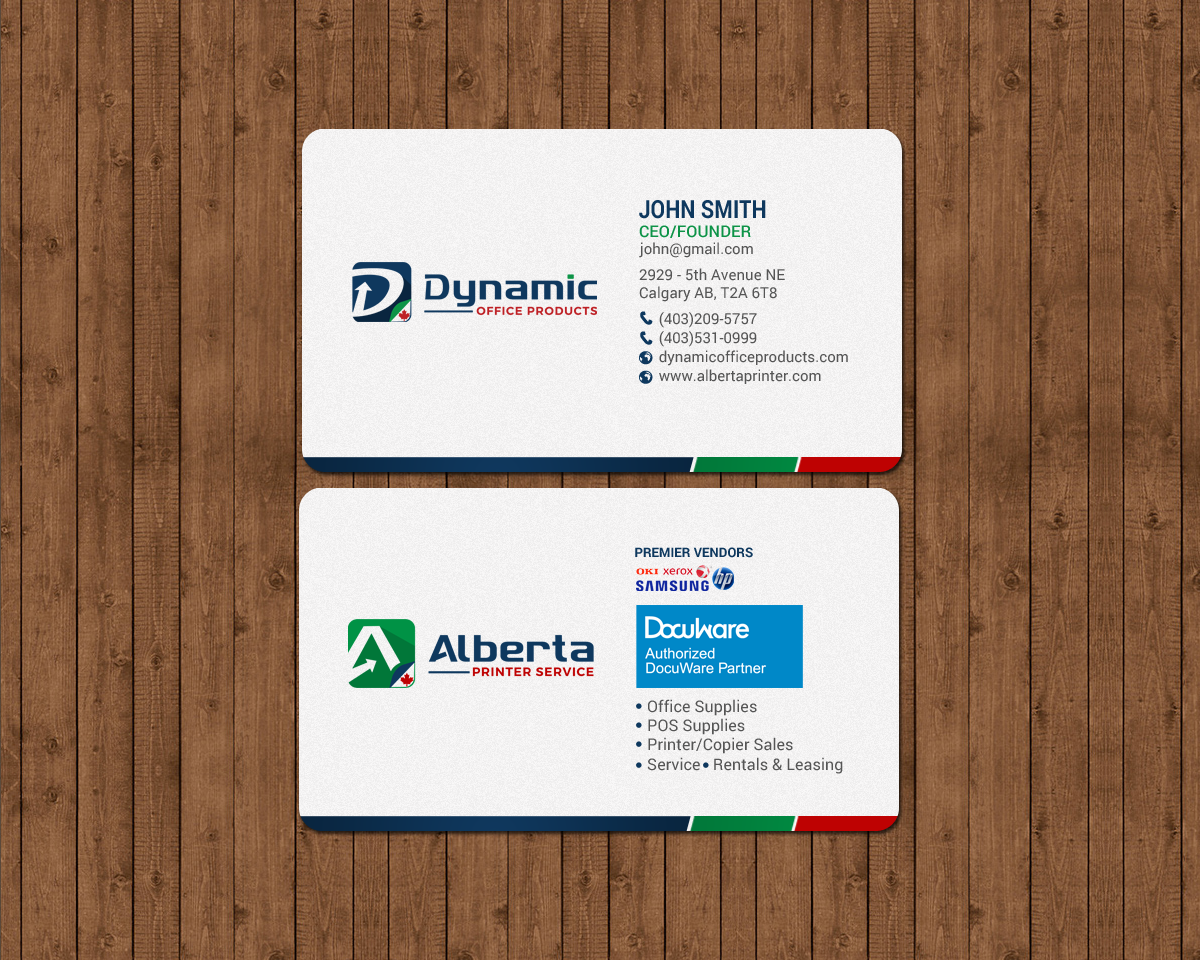Elegant serious office supply business card design for dynamic business card design by chandrayaaneative for dynamic office products design 15822023 reheart Choice Image