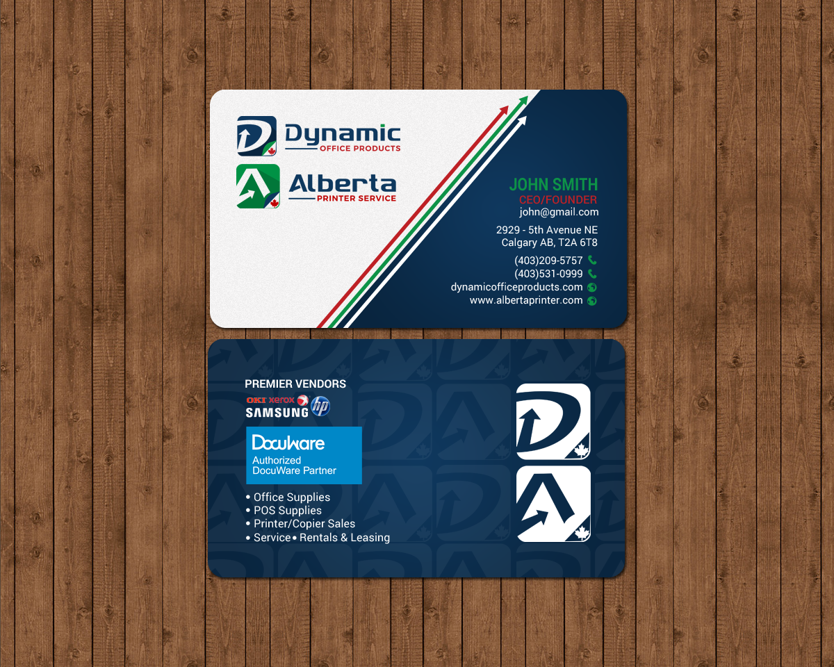 Elegant serious office supply business card design for dynamic business card design by chandrayaaneative for dynamic office products design 15822701 reheart Choice Image