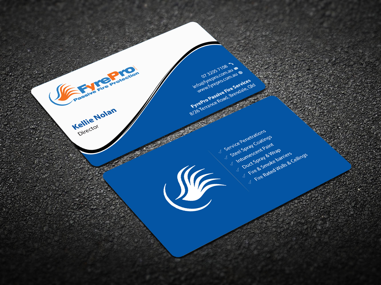 Modern, Professional, Business Business Card Design for Fyre Pro Aus ...