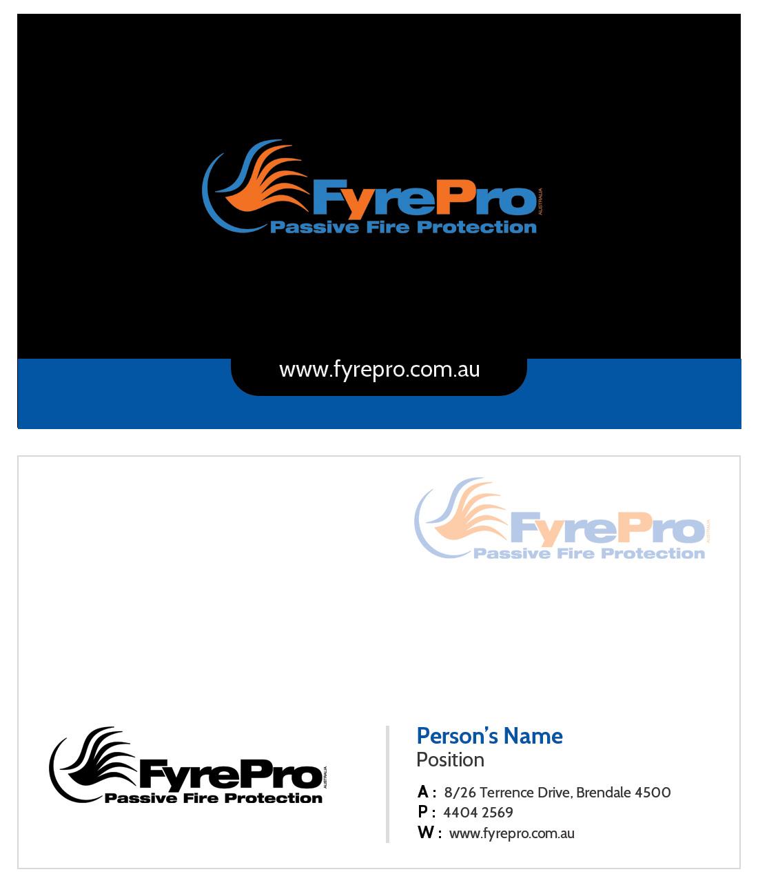 Design De Carte Visite Moderne Professionnelle Business Pour Fyre Pro Aus En Aux Australia