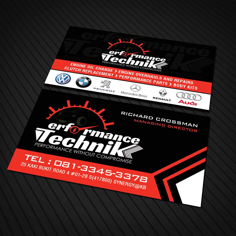 Modern, Masculine, Car Repair Business Card Design for MaceAsia by ...