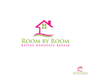Modern Feminine Home And Garden Logo Designs For Room By Room - Home and garden logo
