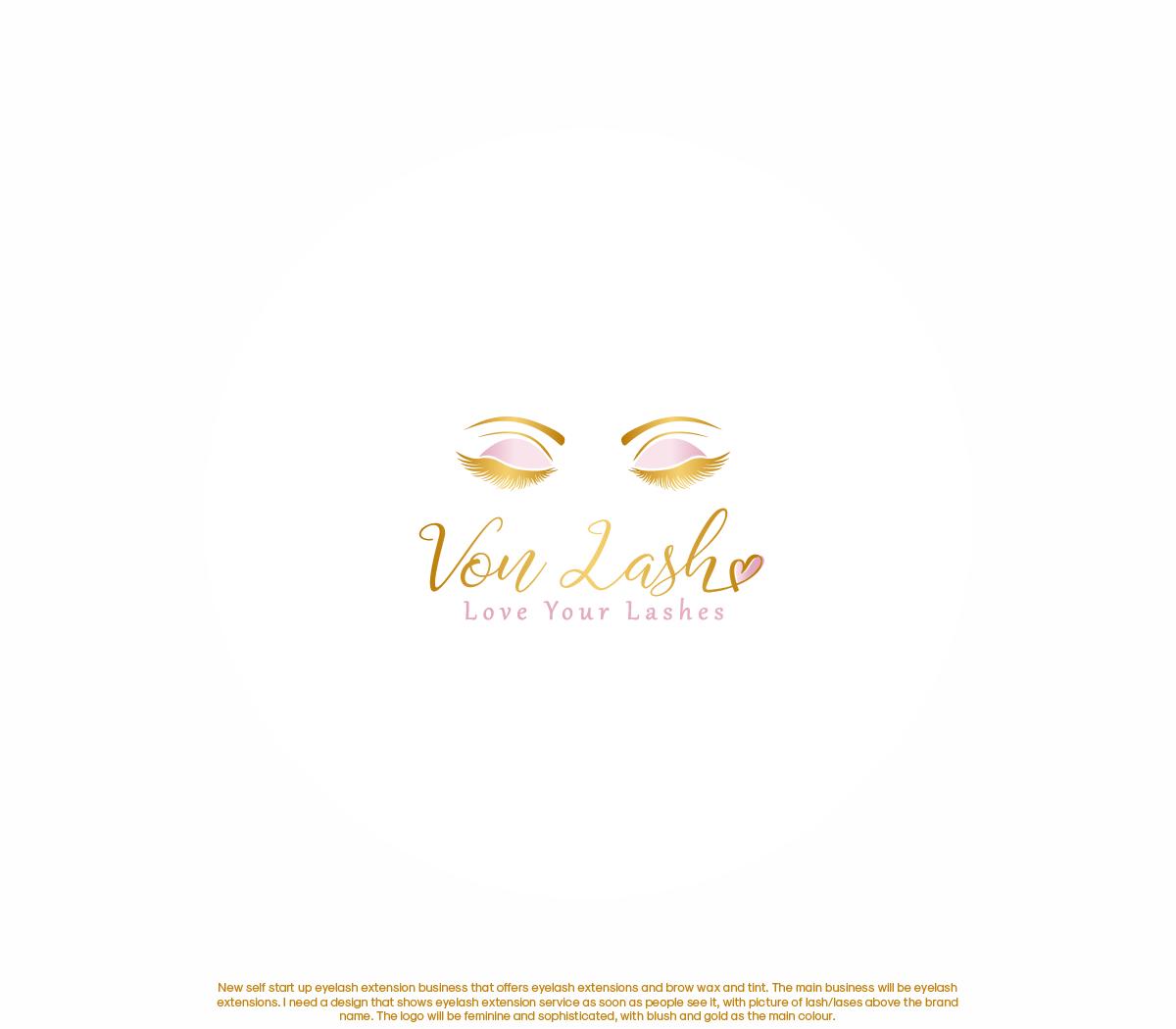 Elegant, Feminine, Hair And Beauty Logo Design for Von Lash by
