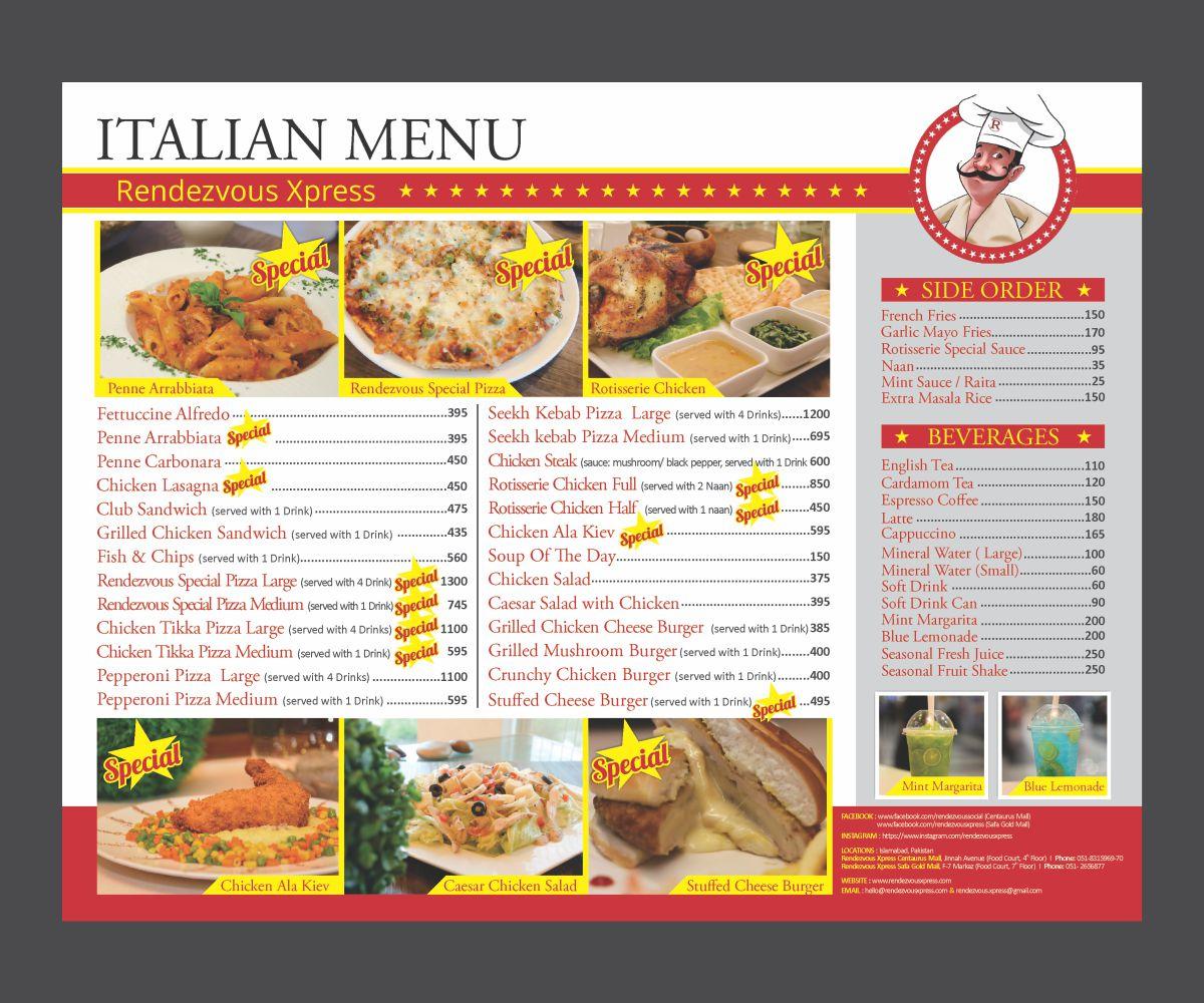 Bold Modern Fast Food Restaurant Menu Design For A Company By Cut And Glue Design 16031043