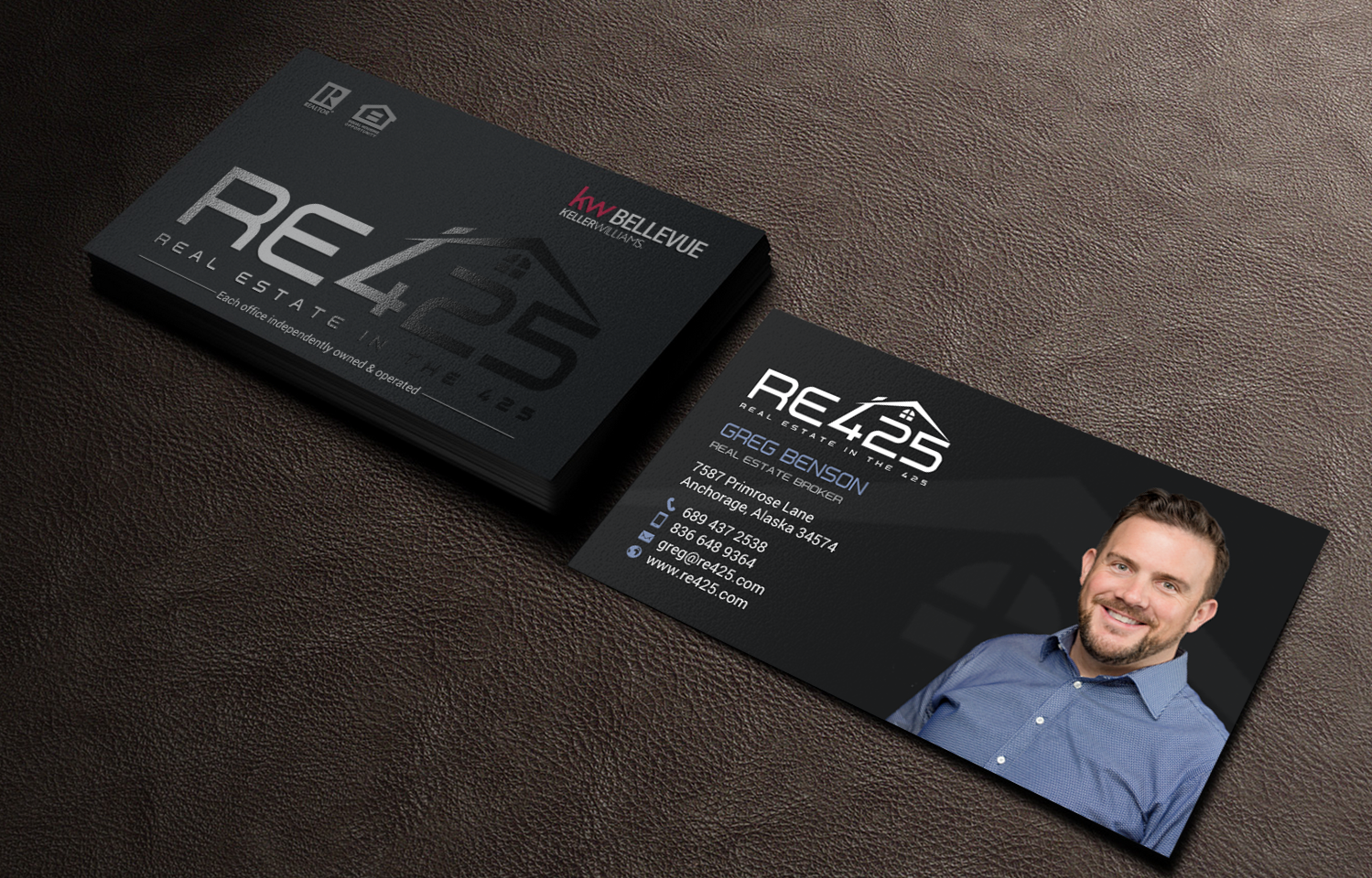 Masculine, Modern, Real Estate Business Card Design for RE425 by ...