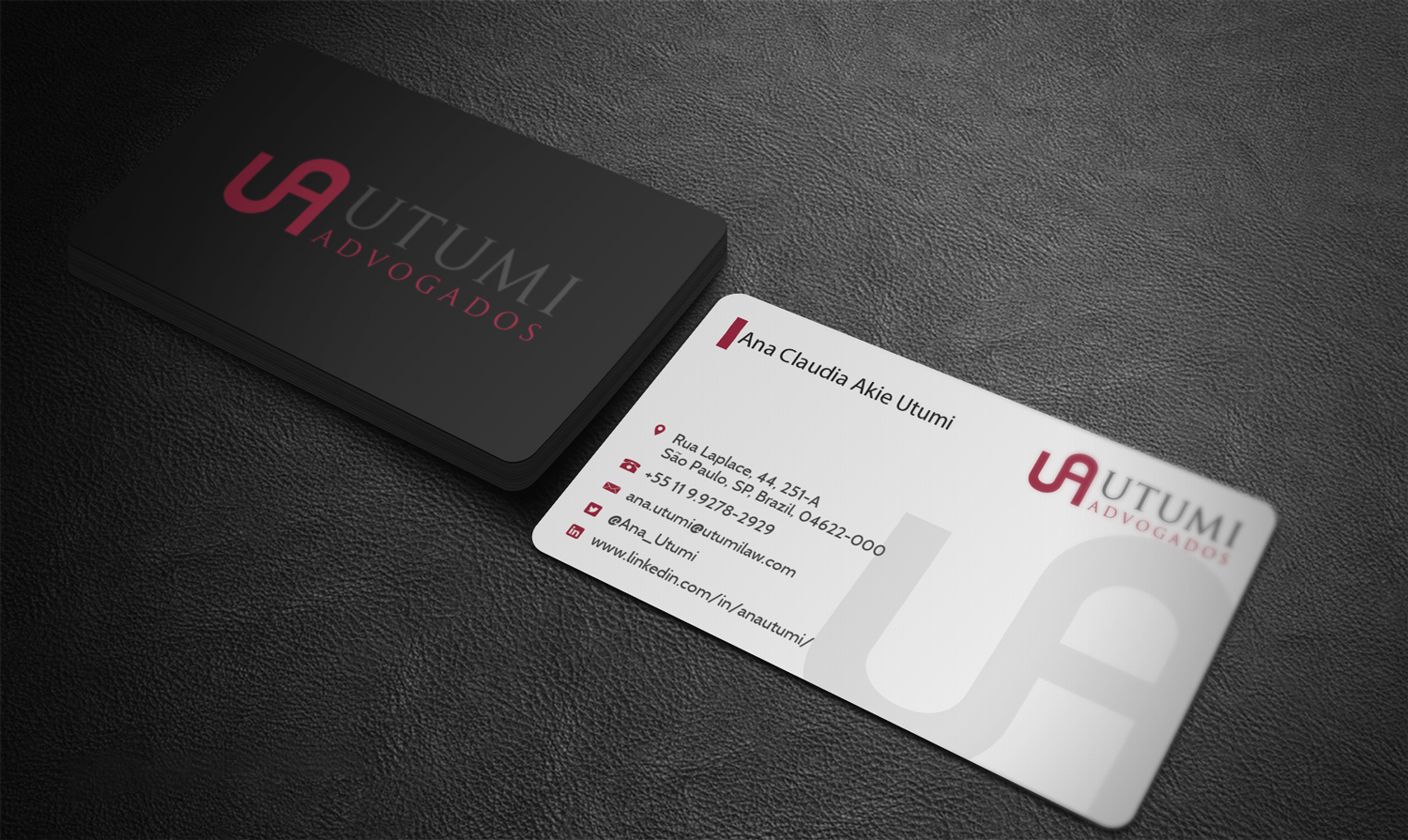 Modern professional business card design for utumi advogados by business card design by riz for business card international tax design 15770930 magicingreecefo Gallery