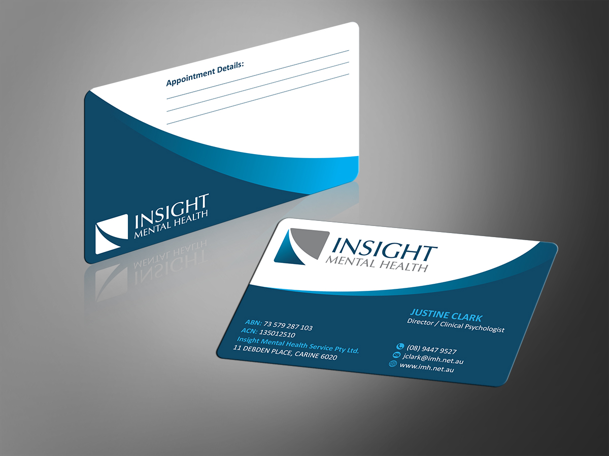 Elegant Colorful Mental Health Business Card Design For A Company