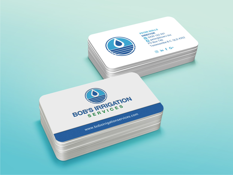 Upmarket modern business business card design for bobs irrigation business card design by atvento graphics for bobs irrigation services design 15790434 reheart Choice Image