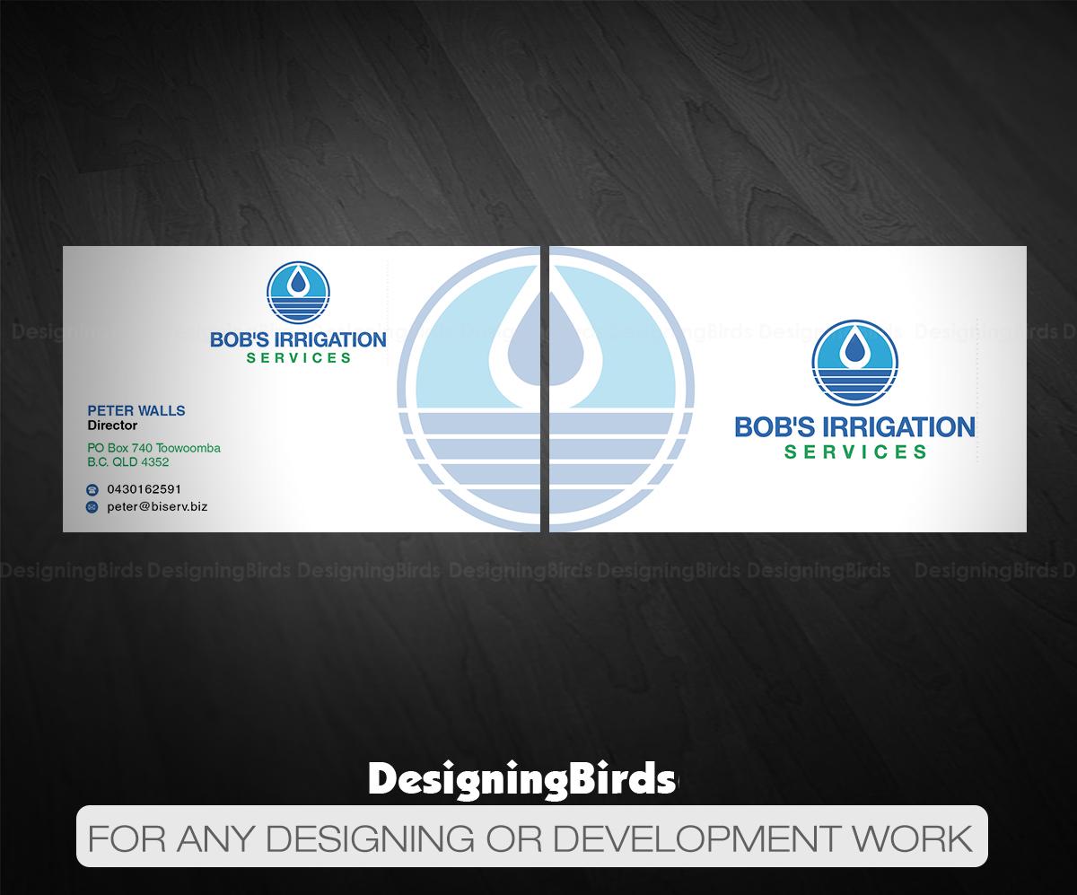 Upmarket modern business business card design for bobs irrigation business card design by designing birds for bobs irrigation services design 15796967 reheart Images