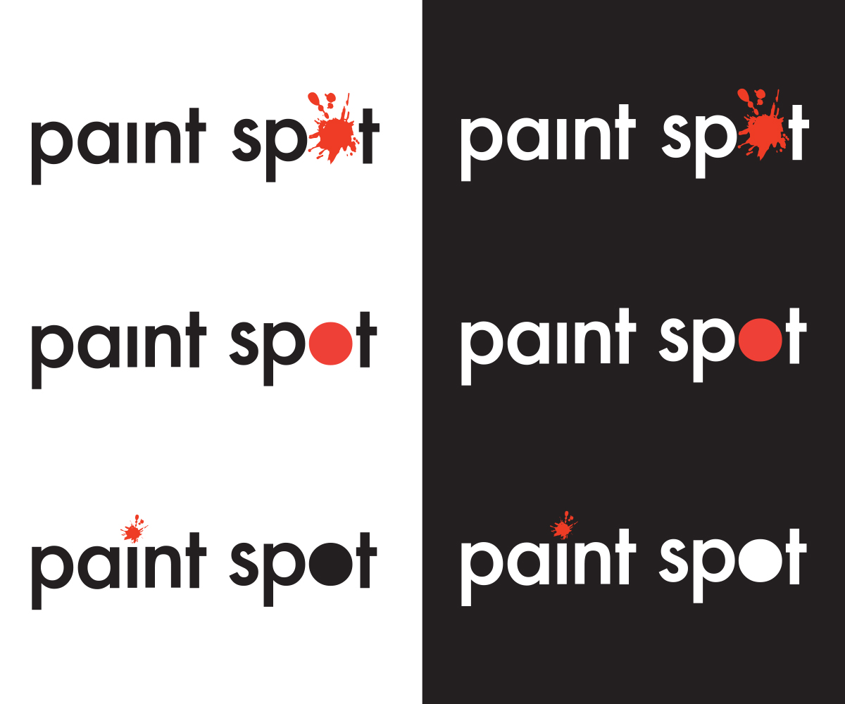 Bold Playful Paint Logo Design For Paint Spot By Skanderson