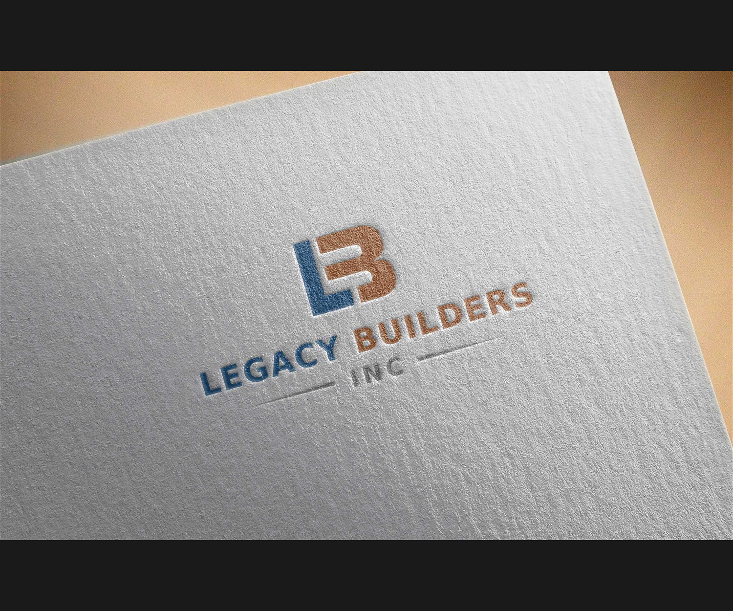 Elegant Playful Construction Logo Design For Legacy Builders Inc