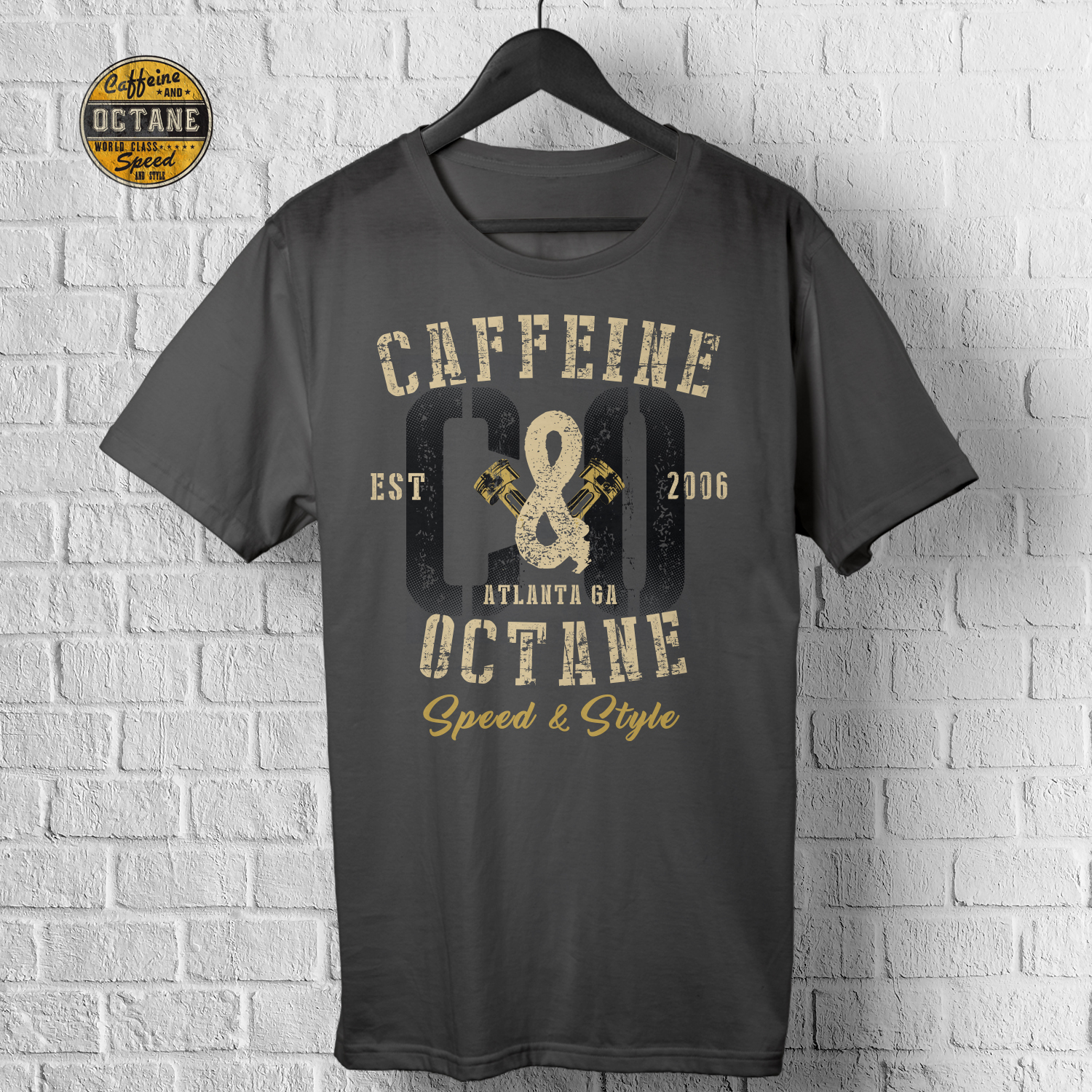 Masculine Bold Automotive T Shirt Design For Special Events