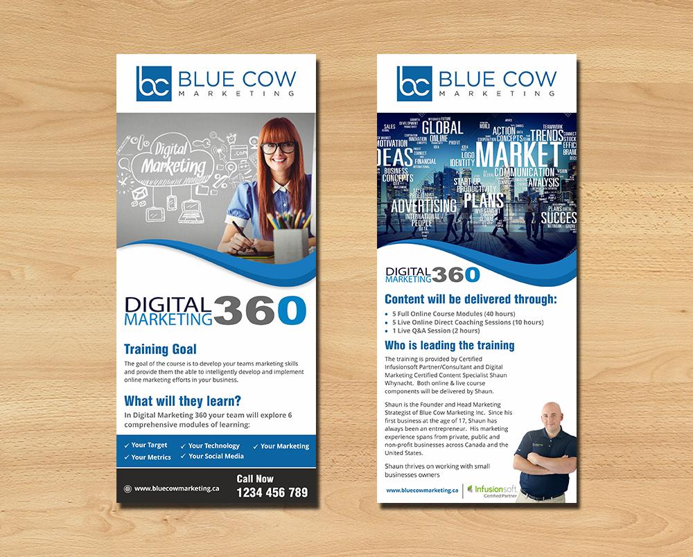 digital flyer design for blue cow marketing inc by ecorokerz