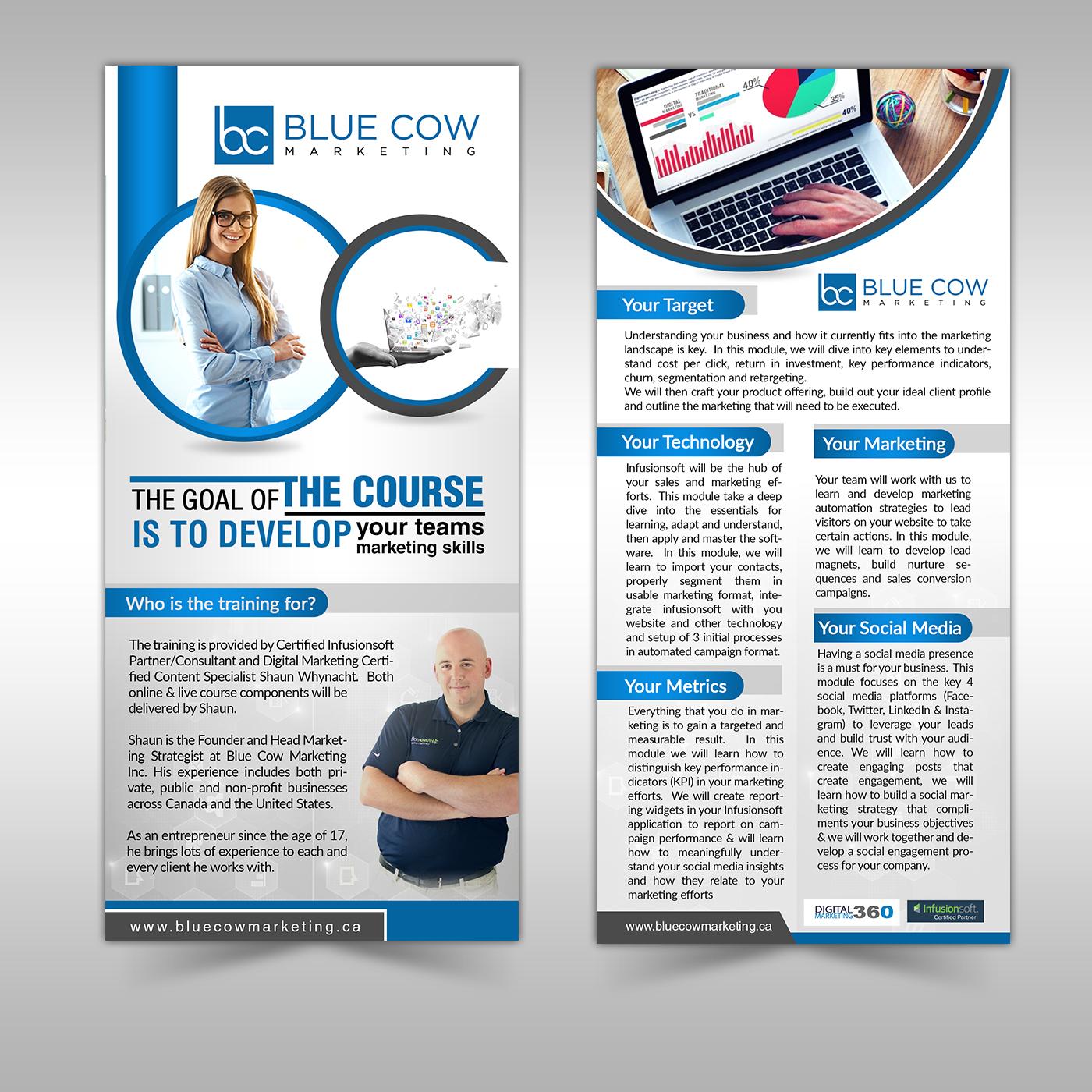 digital flyer design for blue cow marketing inc by sd webcreation
