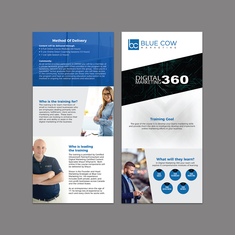digital flyer design for blue cow marketing inc by titan designer