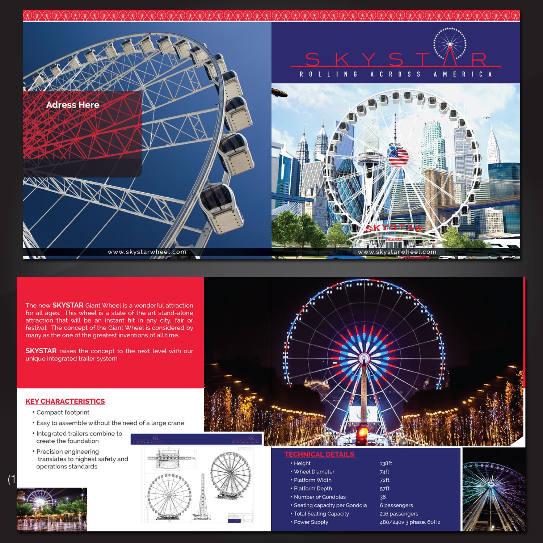 Wheel Brochure Design for Skyview Atlanta by