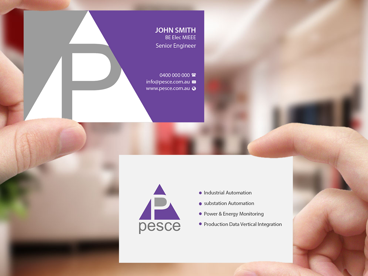 Professional bold business card design for pesce by creations box card design by creations box 2015 for pesce pty ltd design 15823738 reheart Choice Image