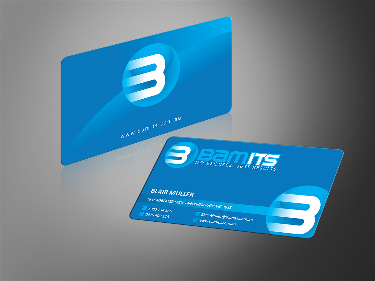 Playful, Traditional, Computer Business Card Design for BAMITS by MT ...