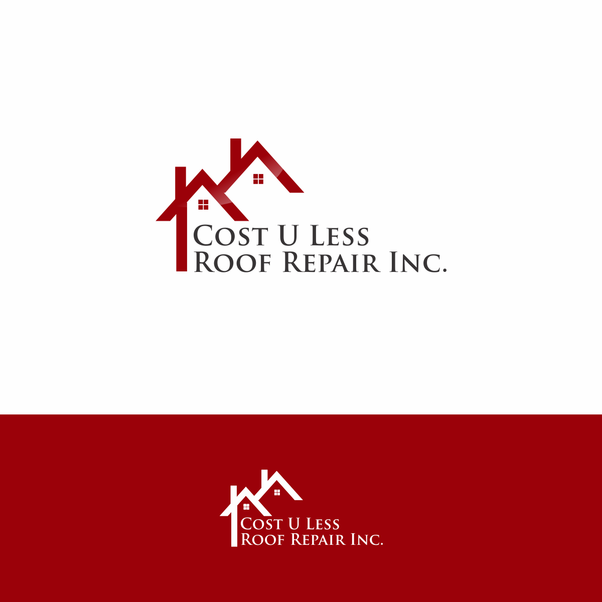 Cost U Less >> Bold Playful Business Logo Design For Cost U Less Roof