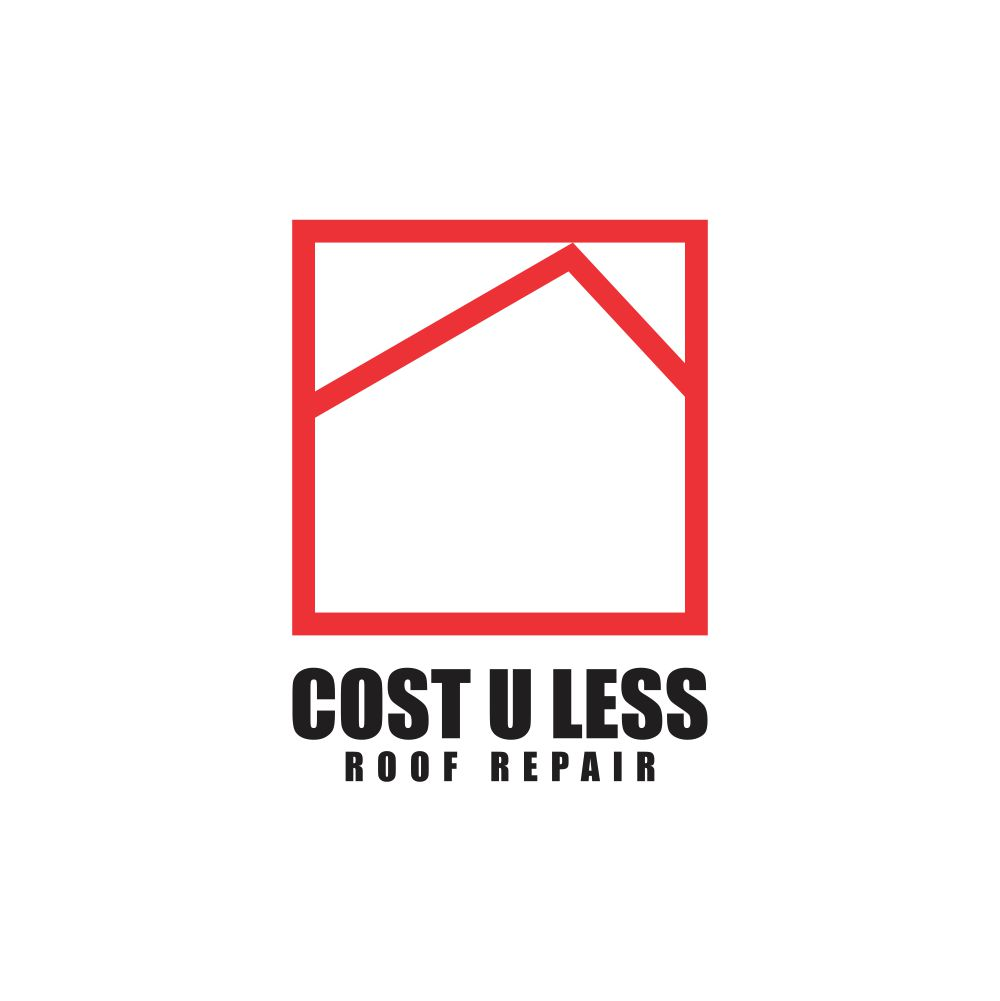 Cost U Less >> Bold Playful Business Logo Design For Cost U Less Roof Repair Inc